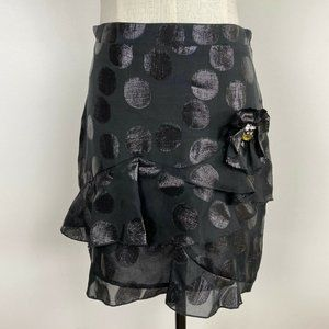 Alannah Hill Womens Lined Layered Jewelled Skirt 8